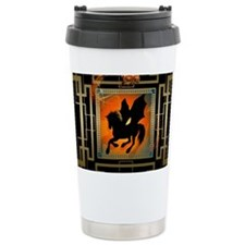 Black unicorn Travel Mug