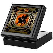Black unicorn Keepsake Box
