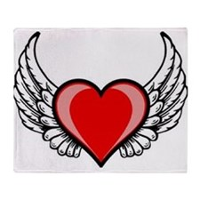 Winged Heart Throw Blanket
