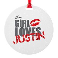 Justin Ornament