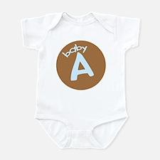 baby A blue Infant Bodysuit