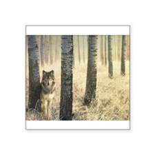 "Cute Wolf calender Square Sticker 3"" x 3"""