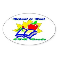 4th Grade School is Cool Oval Decal