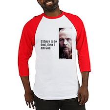 """Dostoevsky """"No God"""" Baseball Jersey"""