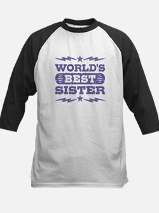 World's Best Sister Kids Baseball Jersey