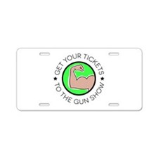 Muscle Gun Show Aluminum License Plate