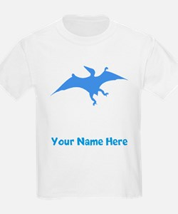 Pterodactylus Silhouette (Blue) T-Shirt