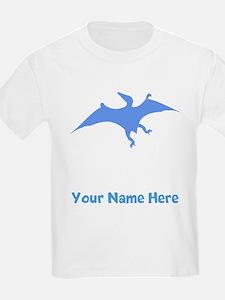 Pterodactylus Silhouette (Blue) T-Shirt