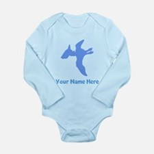 Pterodactyl Silhouette (Blue) Body Suit
