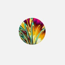 Cool Colorful Abstract Fractal Art Mini Button