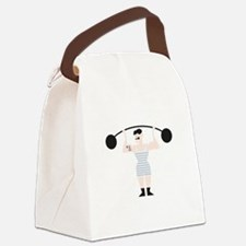 Strong Man Canvas Lunch Bag