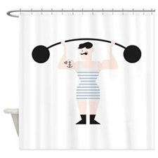 Strong Man Shower Curtain