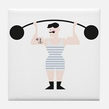 Strong Man Tile Coaster