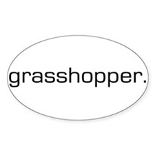 Grasshopper Oval Decal