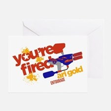 Ari Gold Paintball You're Fired Greeting Cards