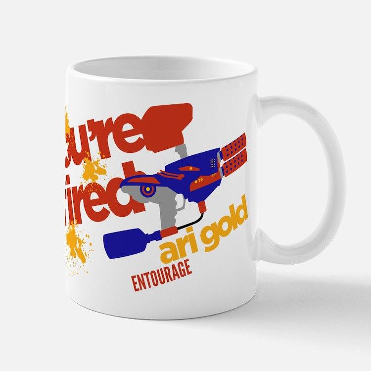 Ari Gold Paintball You're Fired Mugs