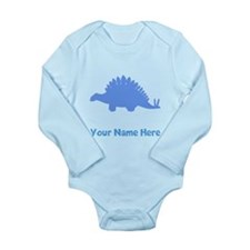 Stegosaurus Silhouette (Blue) Body Suit