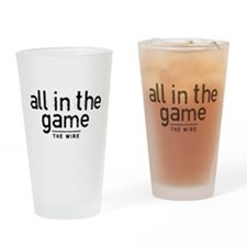 All In The Game The Wire Drinking Glass