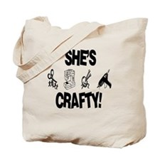Shes Crafty Tote Bag