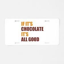 Chocolate Aluminum License Plate