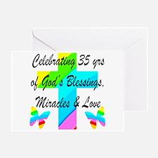 CHRISTIAN 35 YR OLD Greeting Card