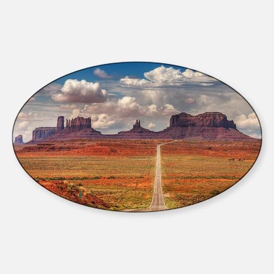 Road Trough Desert Decal