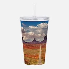 Road Trough Desert Acrylic Double-wall Tumbler