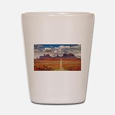 Road Trough Desert Shot Glass