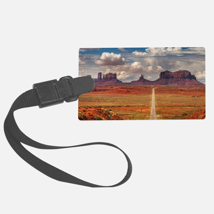 Road Trough Desert Luggage Tag