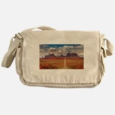 Road Trough Desert Messenger Bag