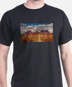 Road Trough Desert T-Shirt