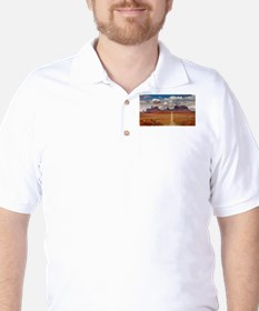 Road Trough Desert Golf Shirt