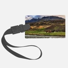 Landscape and Horses Luggage Tag
