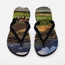 Landscape and Horses Flip Flops