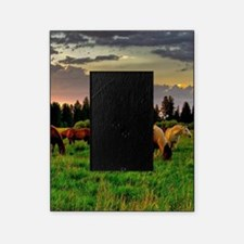 Horses Grazing Picture Frame