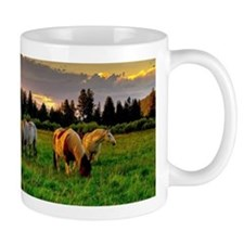 Horses Grazing Mugs