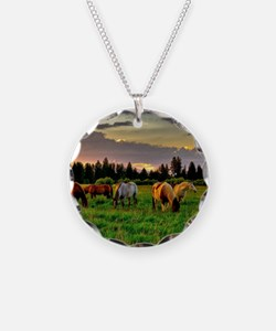 Horses Grazing Necklace