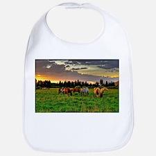 Horses Grazing Bib