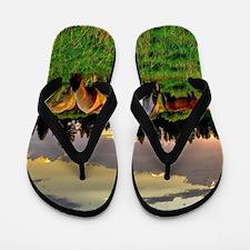 Horses Grazing Flip Flops