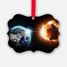 Earth And Asteroid Ornament