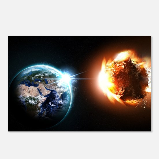 Earth And Asteroid Postcards (Package of 8)