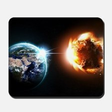 Earth And Asteroid Mousepad