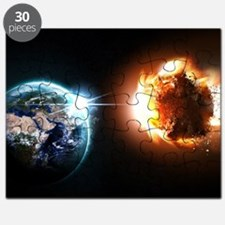 Earth And Asteroid Puzzle