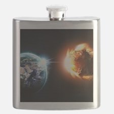Earth And Asteroid Flask