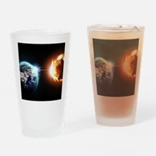 Earth And Asteroid Drinking Glass