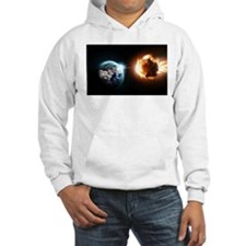 Earth And Asteroid Hoodie
