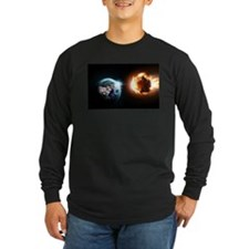 Earth And Asteroid Long Sleeve T-Shirt