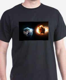 Earth And Asteroid T-Shirt