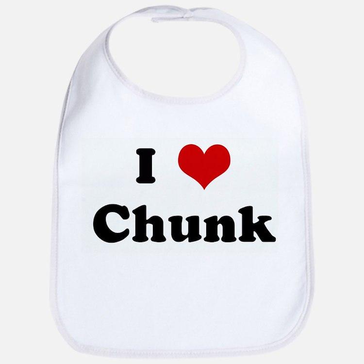 I Love Chunk Bib