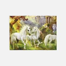 Fantasy Unicorns 5'x7'Area Rug